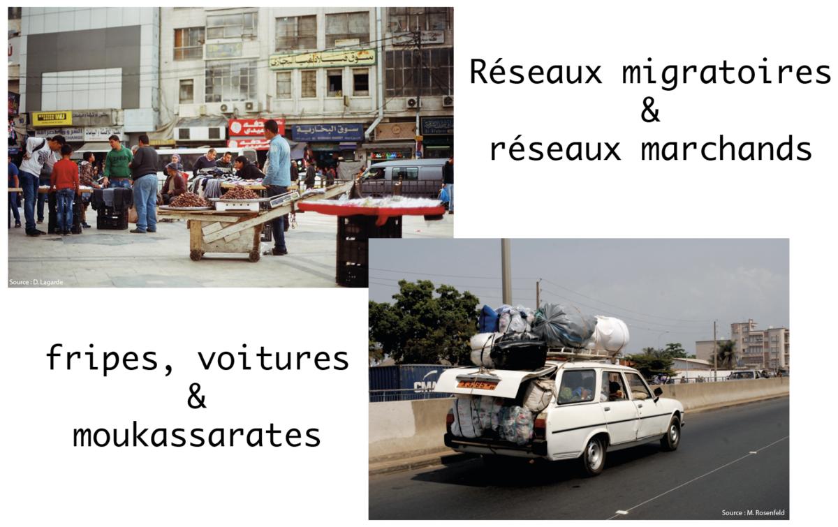 EcoMig#1 – Réseaux migratoires & réseaux marchands. Fripes, voitures & moukassarates